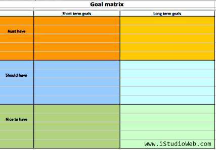 Goal Matrix by iStudioWeb.com