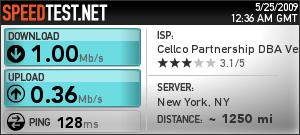 Verizon Wireless Orlando, FL to New York, NY